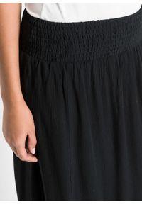 Długa spódnica z rozporkami bonprix czarny. Kolor: czarny. Długość: długie #7