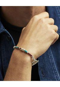 GAS BIJOUX - Skórzana bransoletka ze srebrnymi koralikami Marceau. Materiał: srebrne. Kolor: brązowy. Wzór: aplikacja