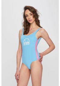 Niebieski strój kąpielowy Ellesse z odpinanymi ramiączkami, z nadrukiem