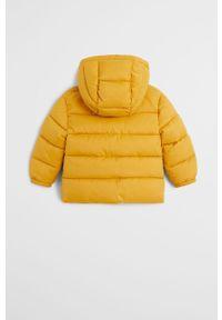 Żółta kurtka Mango Kids z kapturem