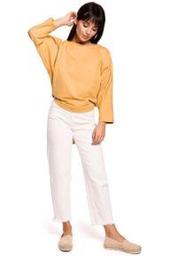 Żółta bluzka oversize MOE z dekoltem na plecach