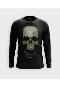 MegaKoszulki - Koszulka męska z dł. rękawem Skull 3D. Materiał: bawełna