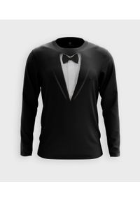 MegaKoszulki - Koszulka męska z dł. rękawem Garnitur - muszka. Materiał: bawełna