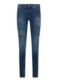 Niebieskie jeansy slim Emporio Armani