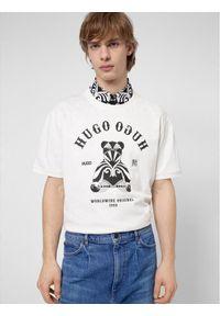 Hugo T-Shirt Duto 50446368 Biały Regular Fit. Kolor: biały