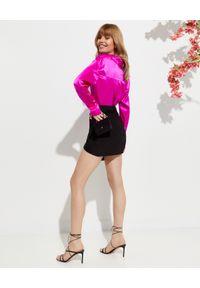 GAUGE81 - Czarna spódnica Nagato. Kolor: czarny. Materiał: jedwab. Styl: wizytowy #3