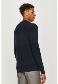 TOMMY HILFIGER - Tommy Hilfiger - Sweter. Okazja: na co dzień. Kolor: niebieski. Materiał: dzianina. Długość rękawa: długi rękaw. Długość: długie. Wzór: aplikacja. Styl: casual