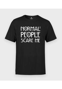 MegaKoszulki - Koszulka męska Normal people scare me. Materiał: bawełna