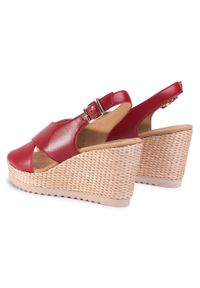 Czerwone sandały Gabor casualowe, na co dzień