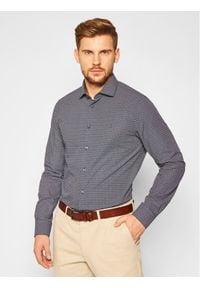 TOMMY HILFIGER - Tommy Hilfiger Tailored Koszula Dot Print TT0TT07609 Granatowy Slim Fit. Kolor: niebieski. Wzór: nadruk