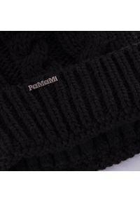 Zimowa czapka damska z warkoczem PaMaMi - Czarny. Kolor: czarny. Materiał: poliamid, akryl. Sezon: zima