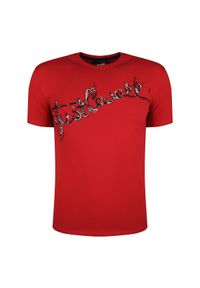 T-shirt Roberto Cavalli z okrągłym kołnierzem, casualowy, na co dzień #1