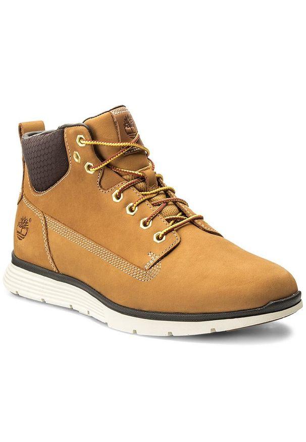 Żółte buty sportowe Timberland