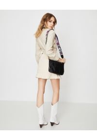 ISABEL MARANT - Beżowa spódnica Roani. Stan: podwyższony. Kolor: beżowy. Materiał: bawełna, jeans. Styl: klasyczny