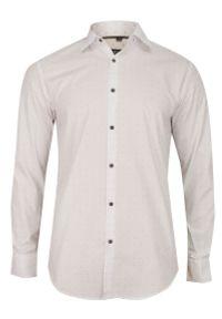 Biała elegancka koszula Bello w grochy, długa