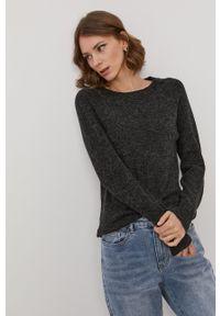 Vero Moda - Sweter. Okazja: na co dzień. Kolor: czarny. Materiał: dzianina. Długość rękawa: raglanowy rękaw. Styl: casual