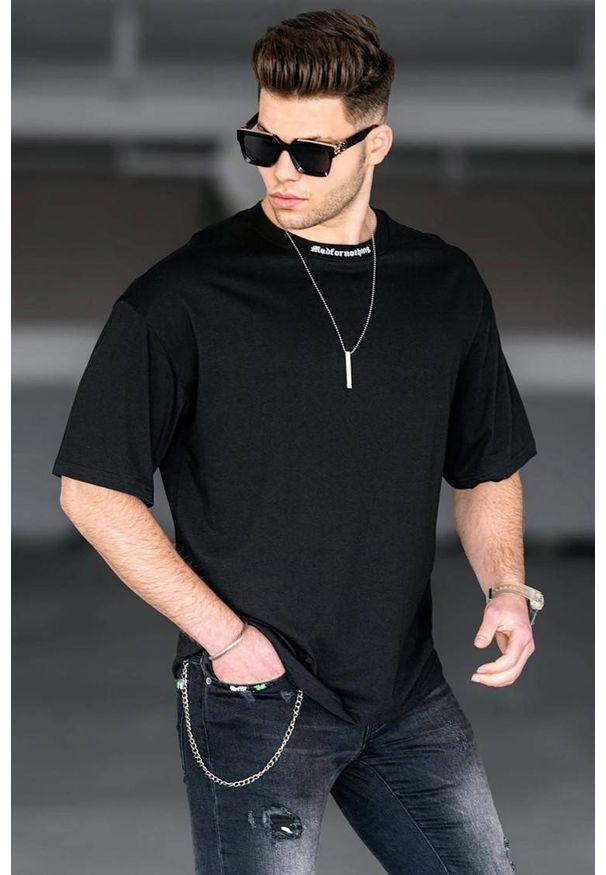 IVET - T-shirt męski MAVERIK BLACK. Okazja: na co dzień. Kolor: czarny. Materiał: bawełna, materiał, jeans. Styl: casual, klasyczny