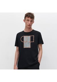 T-shirt Reserved z nadrukiem