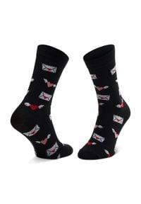 Dots Socks - Skarpety Wysokie Unisex DOTS SOCKS - DTS-SX-489-D-3942 Czarny. Kolor: czarny. Materiał: elastan, poliamid, bawełna, materiał
