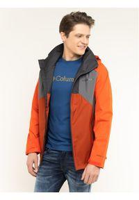 Pomarańczowa kurtka turystyczna columbia