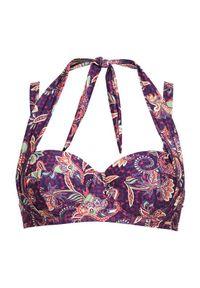Cellbes Góra od bikini we wzory Fioletowy female ze wzorem/fioletowy 85D. Kolor: fioletowy. Materiał: poliester