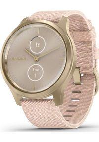 GARMIN - Zegarek sportowy Garmin Vivomove Style Różowy (010-02240-22). Kolor: różowy. Styl: sportowy