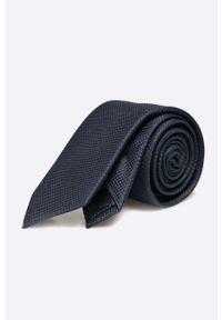 Jack & Jones - Krawat. Kolor: niebieski. Materiał: materiał. Wzór: gładki