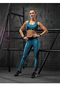 FJ! - Top push-up PYTHON. Materiał: poliester, dzianina, guma, elastan. Rodzaj stanika: push-up. Sport: fitness, bieganie