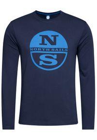 North Sails Longsleeve Graphic 692592 Granatowy Regular Fit. Kolor: niebieski. Długość rękawa: długi rękaw