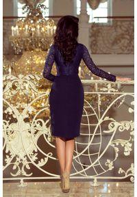 Sukienka wieczorowa Numoco w koronkowe wzory, ołówkowa