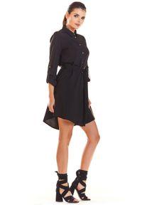 Infinite You - Koszulowa sukienka szmizjerka wiązana w pasie. Materiał: materiał, elastan. Długość rękawa: długi rękaw. Typ sukienki: koszulowe, szmizjerki