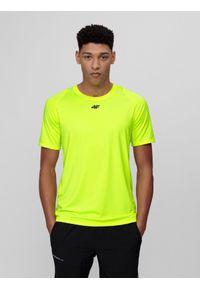 Zielona koszulka sportowa 4f raglanowy rękaw, na fitness i siłownię