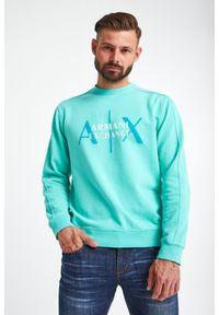 Armani Exchange - BLUZA ARMANI EXCHANGE. Materiał: bawełna. Długość rękawa: długi rękaw. Długość: długie. Wzór: napisy