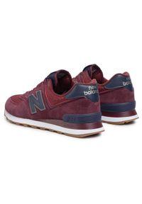 Czerwone sneakersy New Balance z cholewką