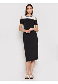 Czarna sukienka Liu Jo prosta, na co dzień, casualowa