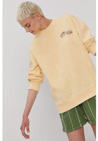 Billabong - Bluza x The Salty Blondie. Kolor: żółty. Długość rękawa: długi rękaw. Długość: długie. Wzór: nadruk