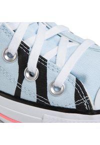 Niebieskie półbuty Converse z cholewką