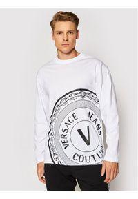 Versace Jeans Couture Longsleeve 71GAHT20 Biały Regular Fit. Kolor: biały. Długość rękawa: długi rękaw