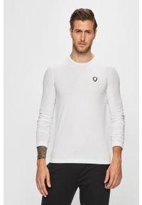 Biała koszulka z długim rękawem EA7 Emporio Armani casualowa, na co dzień