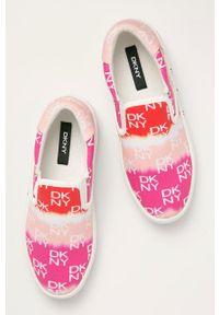 DKNY - Dkny - Tenisówki. Nosek buta: okrągły. Kolor: różowy. Materiał: guma
