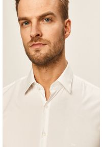 Biała koszula Calvin Klein długa, elegancka