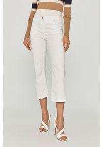 Białe spodnie materiałowe Pennyblack gładkie