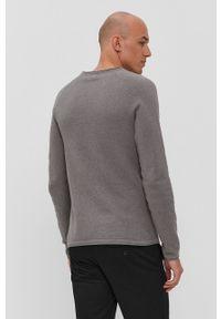 Jack & Jones - Sweter. Kolor: szary. Materiał: dzianina. Długość rękawa: raglanowy rękaw