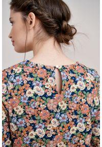 Marie Zélie - Sukienka Livia Noli. Materiał: bawełna, wiskoza, materiał, tkanina, skóra. Długość rękawa: krótki rękaw