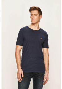 Niebieski t-shirt Premium by Jack&Jones casualowy, na co dzień