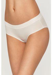 Białe majtki DKNY gładkie