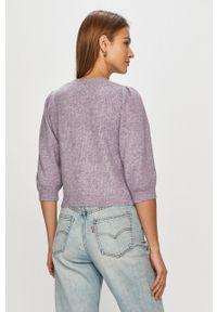 Sweter rozpinany Noisy may gładki, casualowy