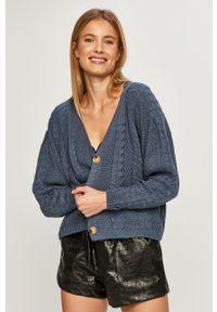 Niebieski sweter rozpinany Haily's raglanowy rękaw