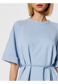 Imperial Sukienka codzienna ABZQBCR Niebieski Regular Fit. Okazja: na co dzień. Kolor: niebieski. Typ sukienki: proste. Styl: casual