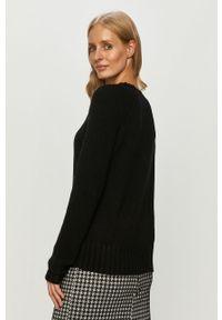 Czarny sweter only na co dzień, z okrągłym kołnierzem, długi, casualowy